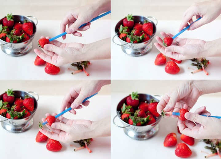 How To Hull Strawberries With A Straw