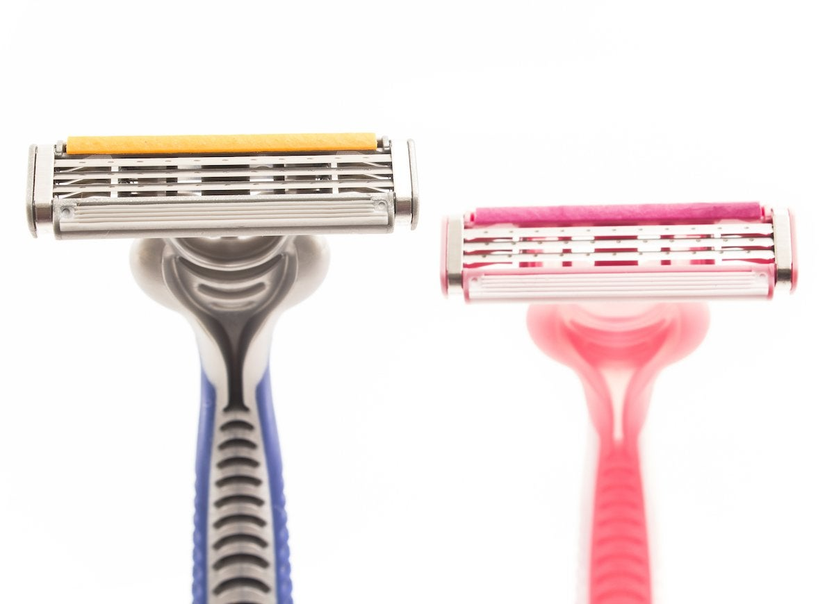 Plastic straw razor cover