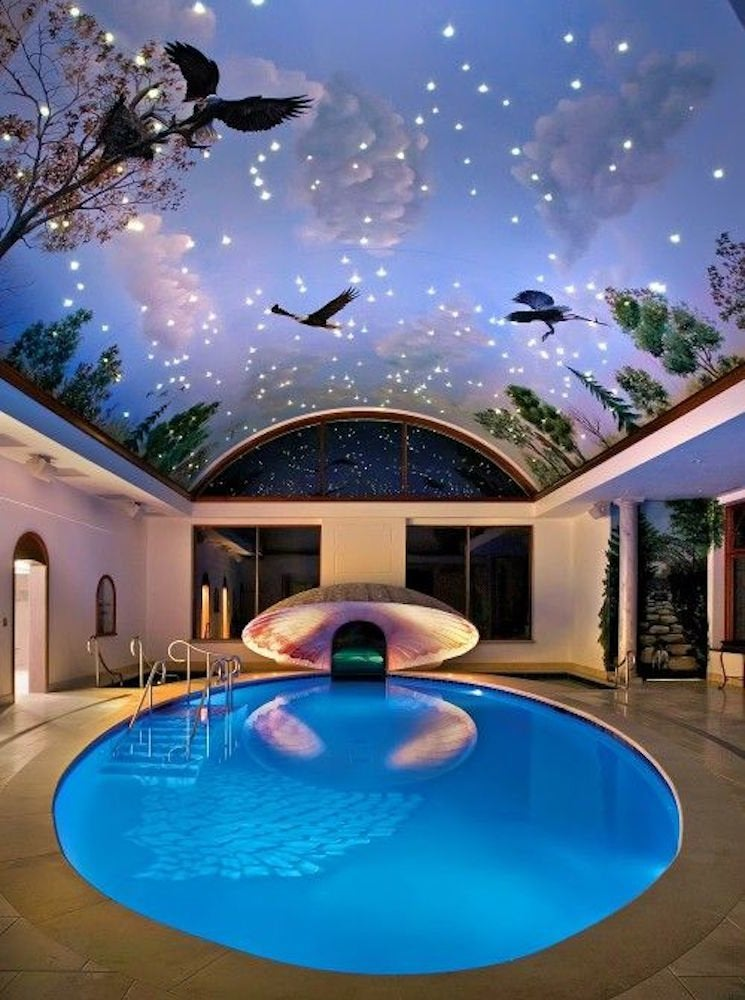 Circular indoor pool