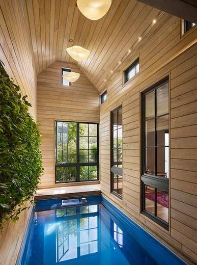 Indoor pool atrium