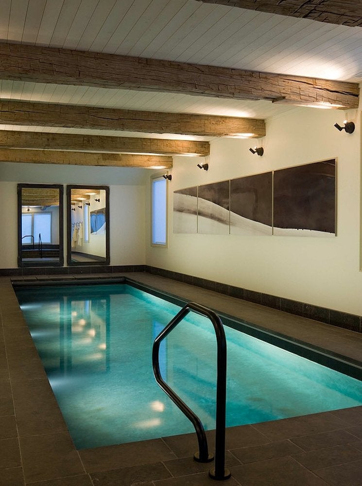 Saltwater indoor pool