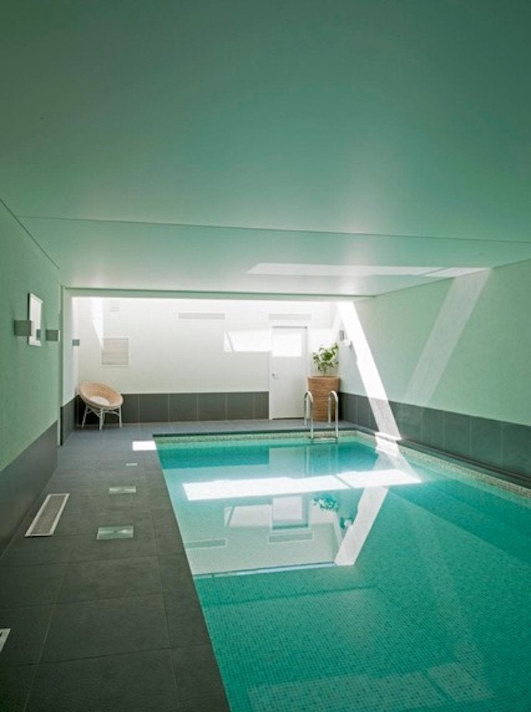 Basement lap pool