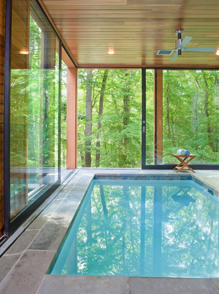 Tree house pool