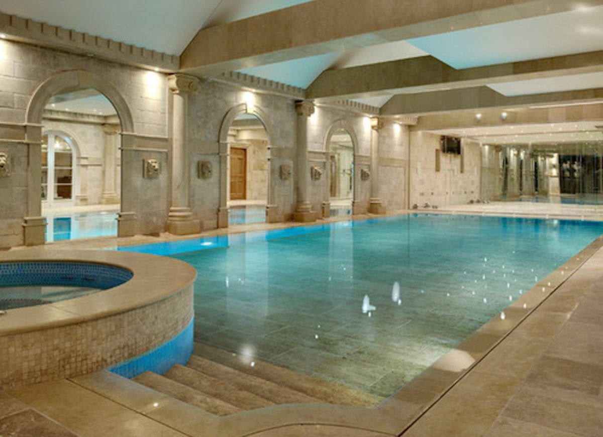 Modern roman bath indoor pool