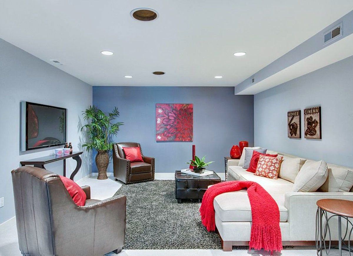 Paint Schemes For Basement Entertainment Room