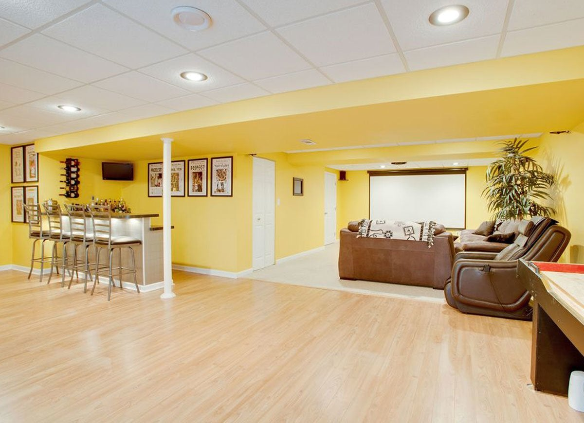 Yellow basement