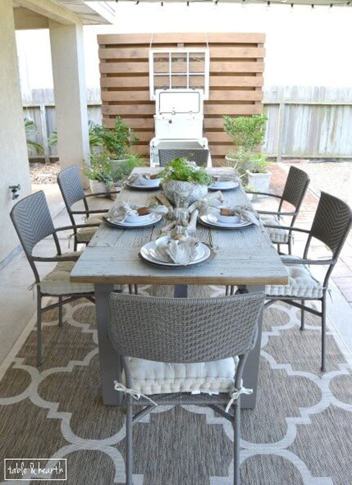 Diy Table With Reclaimed Wood Diy Patio Table 15 Easy