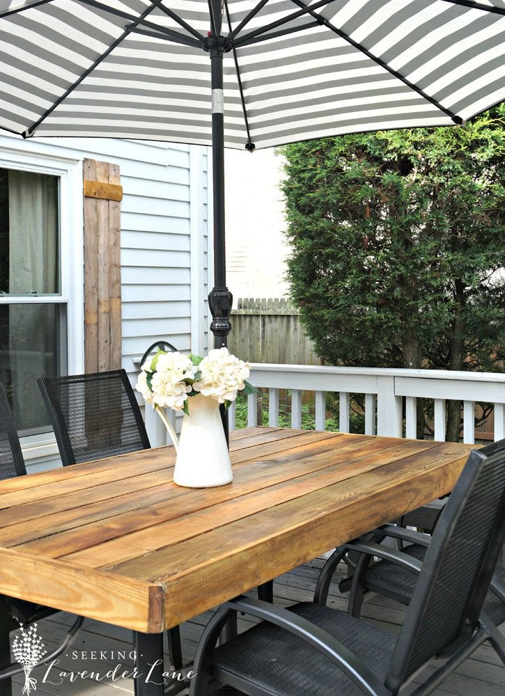 Diy rustic patio table