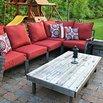 DIY Outdoor Ottoman Table