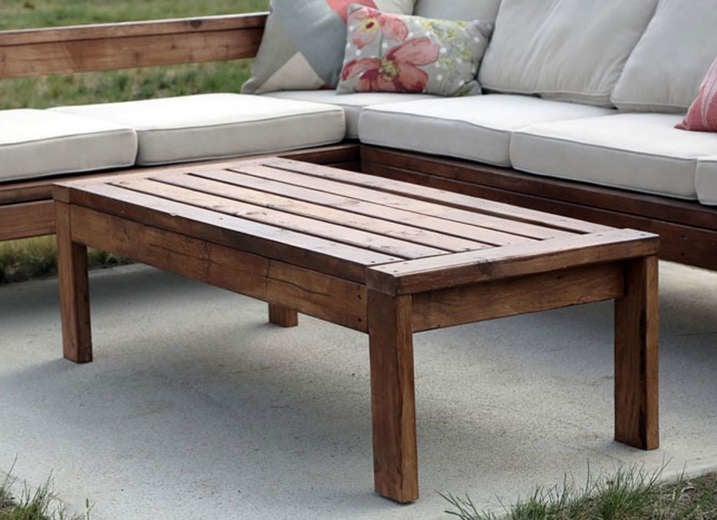 Diy simple outdoor table
