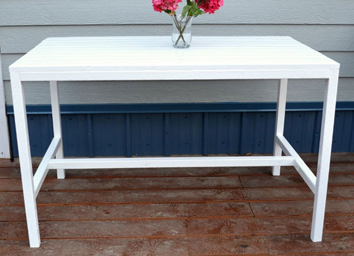 Diy white outdoor table