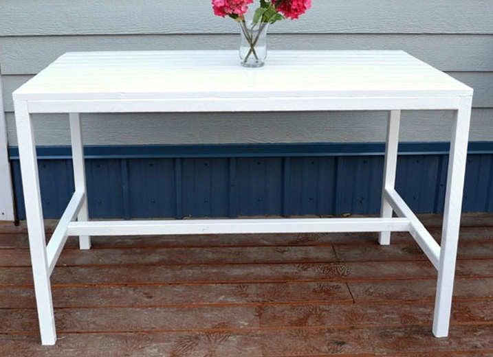 Diy white outdoor table