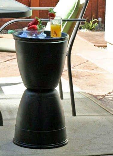 DIY Outdoor Martini Table