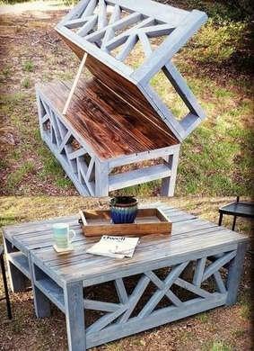 Diy bench coffee table