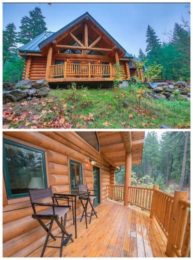 Log Cabin on the Water
