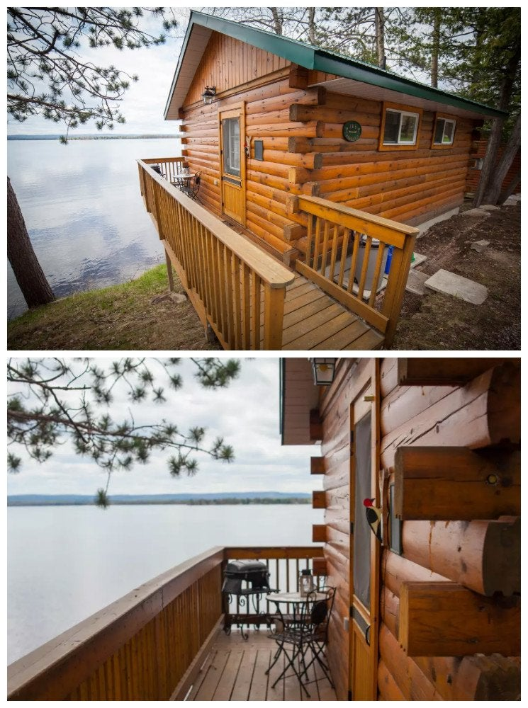Floating log cabin
