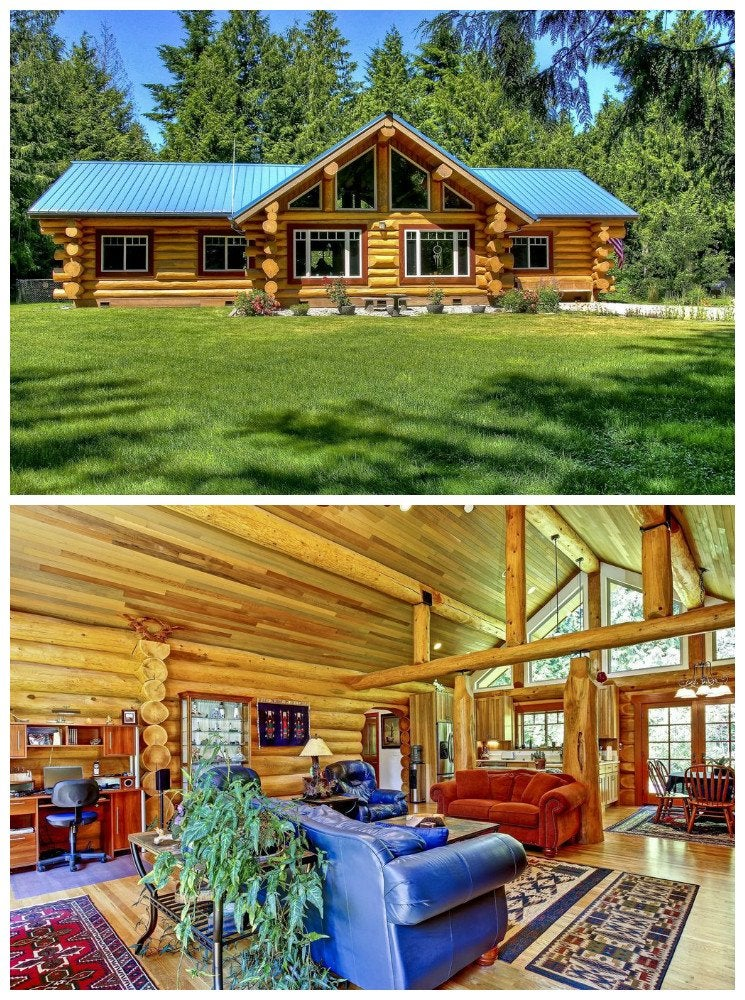 Short and sweet log cabin