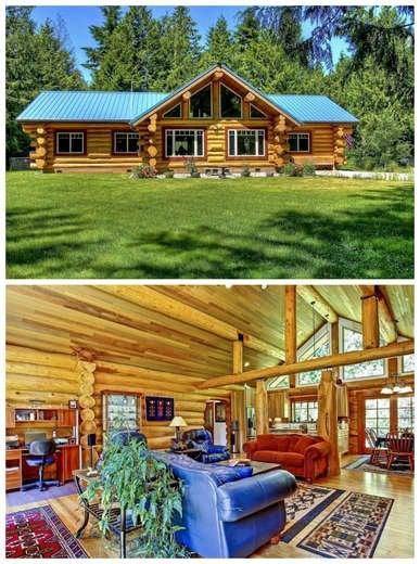 Ranch-Style Log Cabin