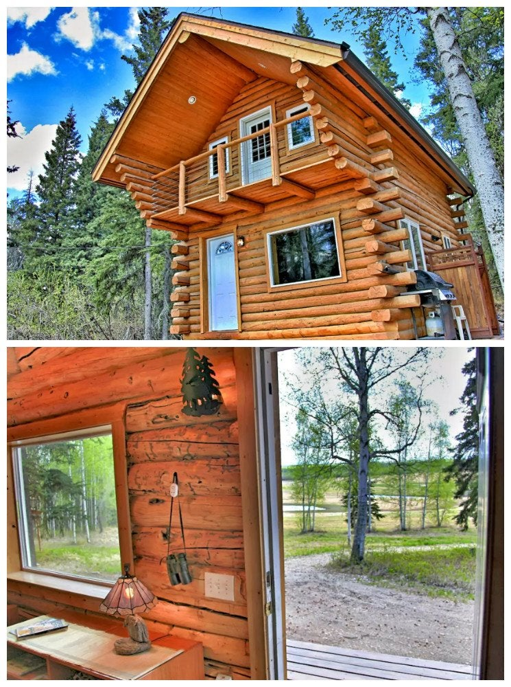 Two story log cabin the 17 best log cabins bob vila for Two story log cabin