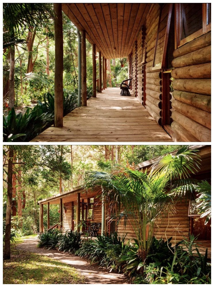 Mexican inspired log cabin