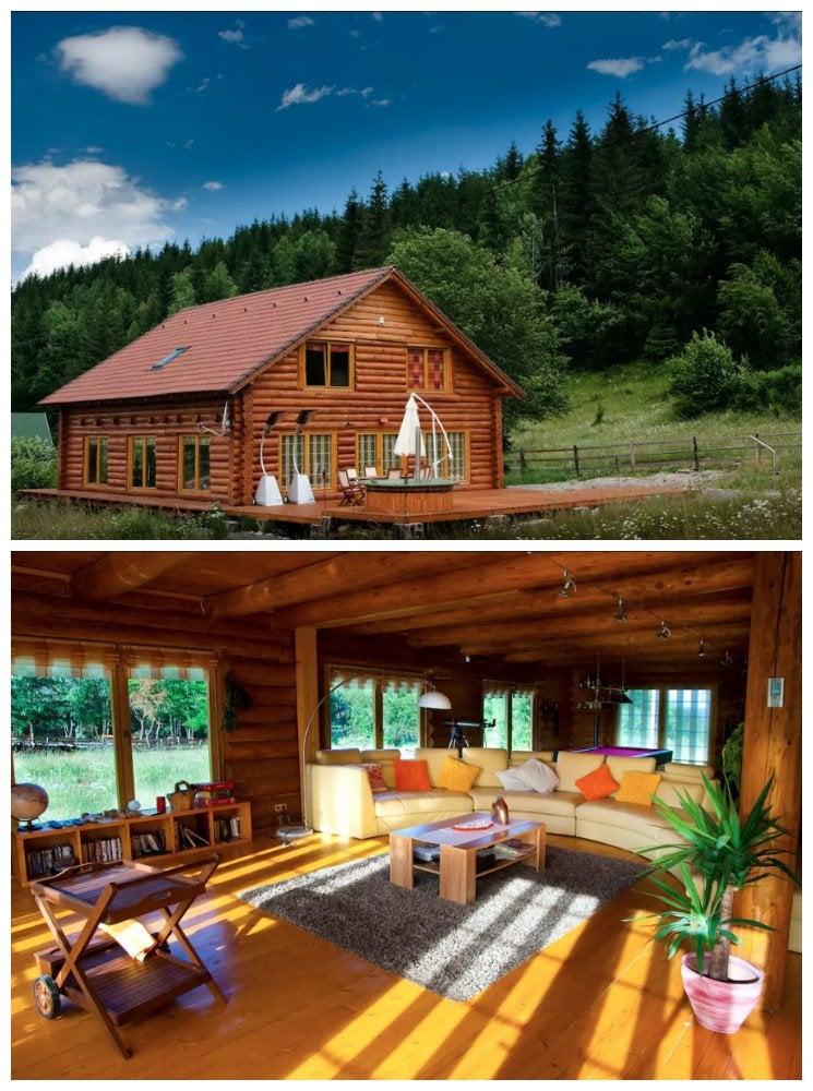 Log cabin romania
