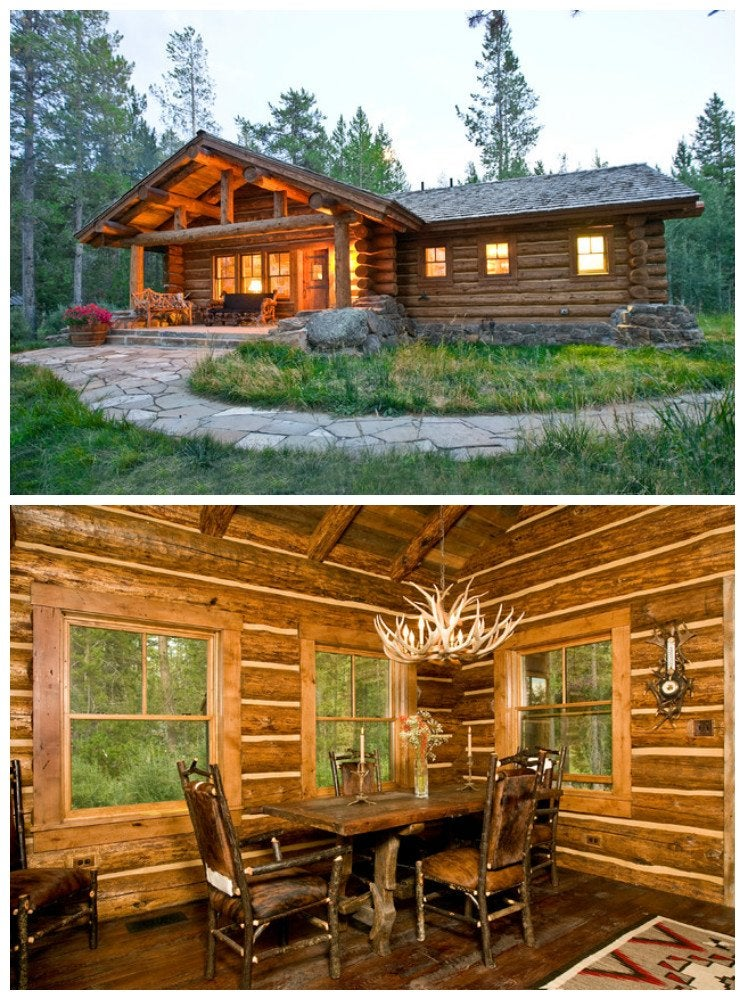 Log cabin wood interior the 17 best log cabins bob vila for Wood cabin homes