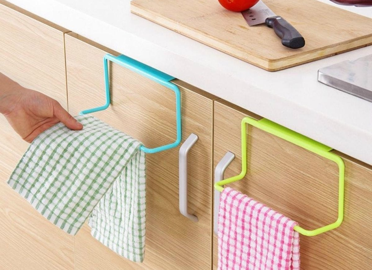 Binmer cabinet door towel rack