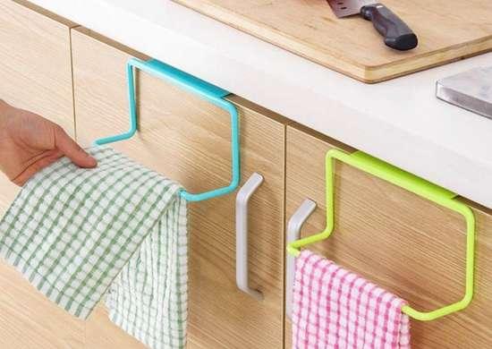 Binmer cabinet door towel rack