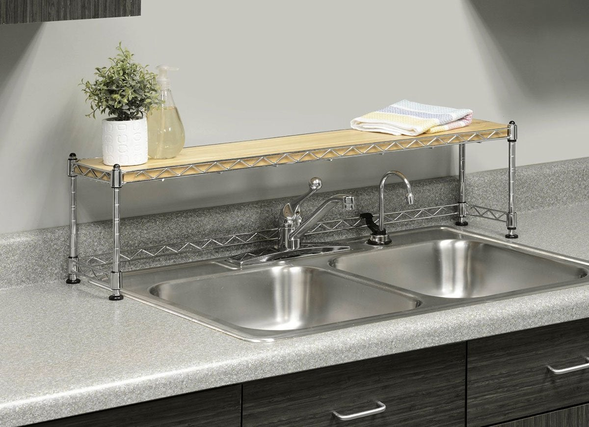 Kitchen sink shelf