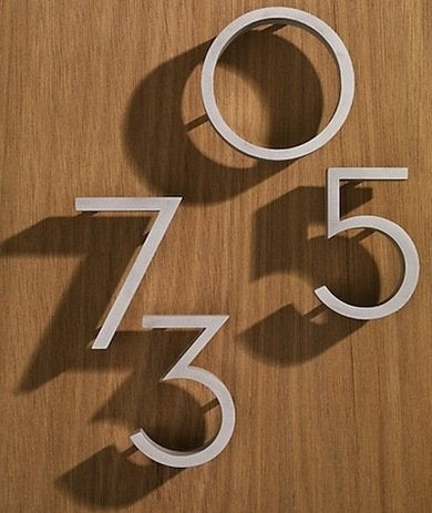 Architectural House Numbers Modern