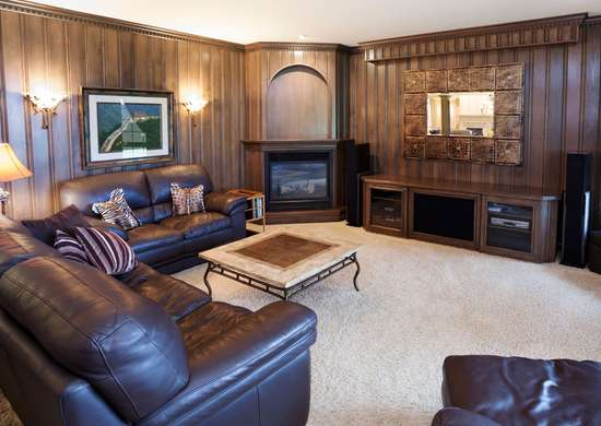 Outdated Dark Wood Paneling