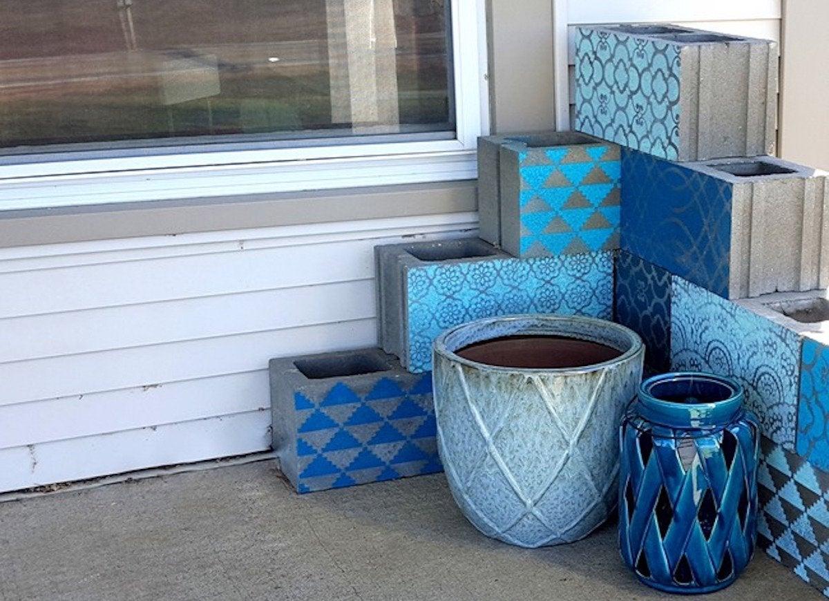 Cinder block porch
