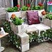 Cinder Block Garden Chair