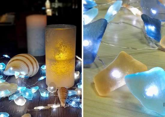 Beach Glass String Lights