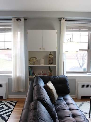 IKEA Shelves Hack Air Conditioner Cover