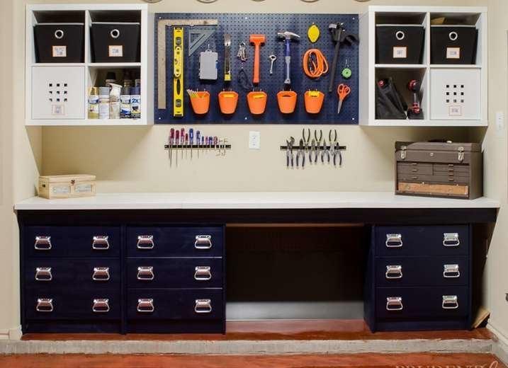 IKEA Shelves Hack Garage Storage