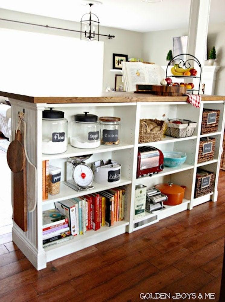 Ikea shelves hacks kitchen island