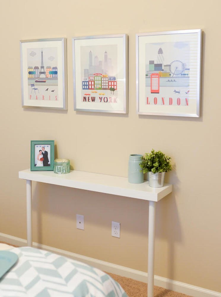 9 unconventional ikea shelves hacks bob vila for Ikea hall table