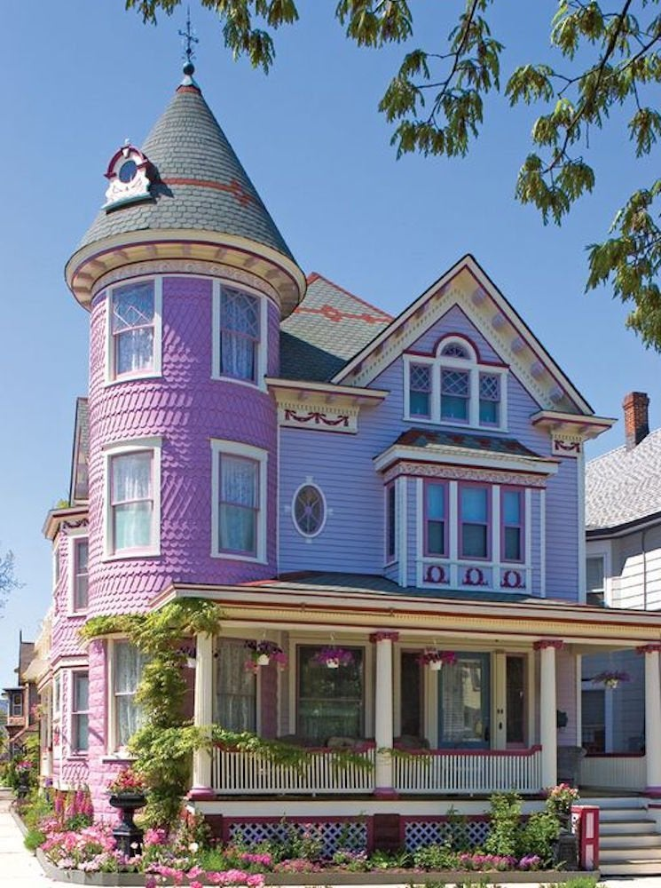 Purple victorian house