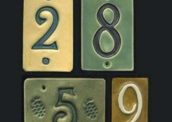 Ravenstonetiles etsy ceramic house number tiles