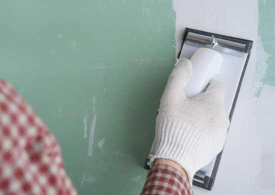 2. Sanding Drywall