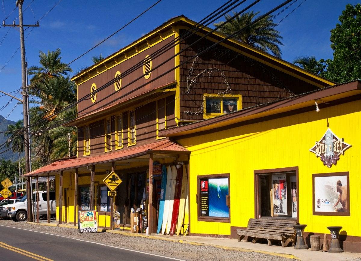 Tiny town haleiwa oahu hawaii