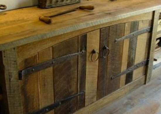 Barn Wood Cabinets - 16 Ways to Use Salvaged Wood in Your Home ...