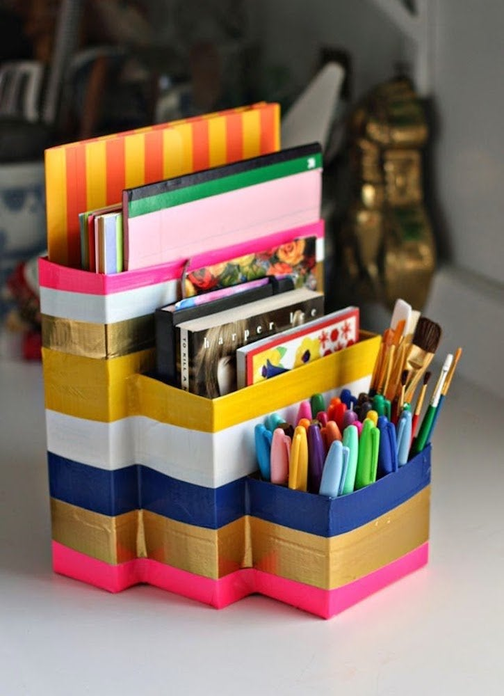 Aunt peaches duck tape organizers desk craft