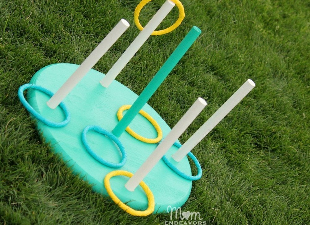 Momendeavors diy ring toss