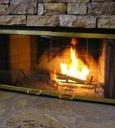 Glassfireplace