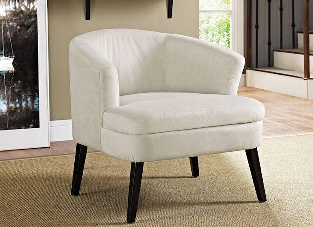 White Microfiber Chair