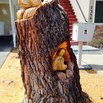 Tree Stump Chainsaw Sculpture