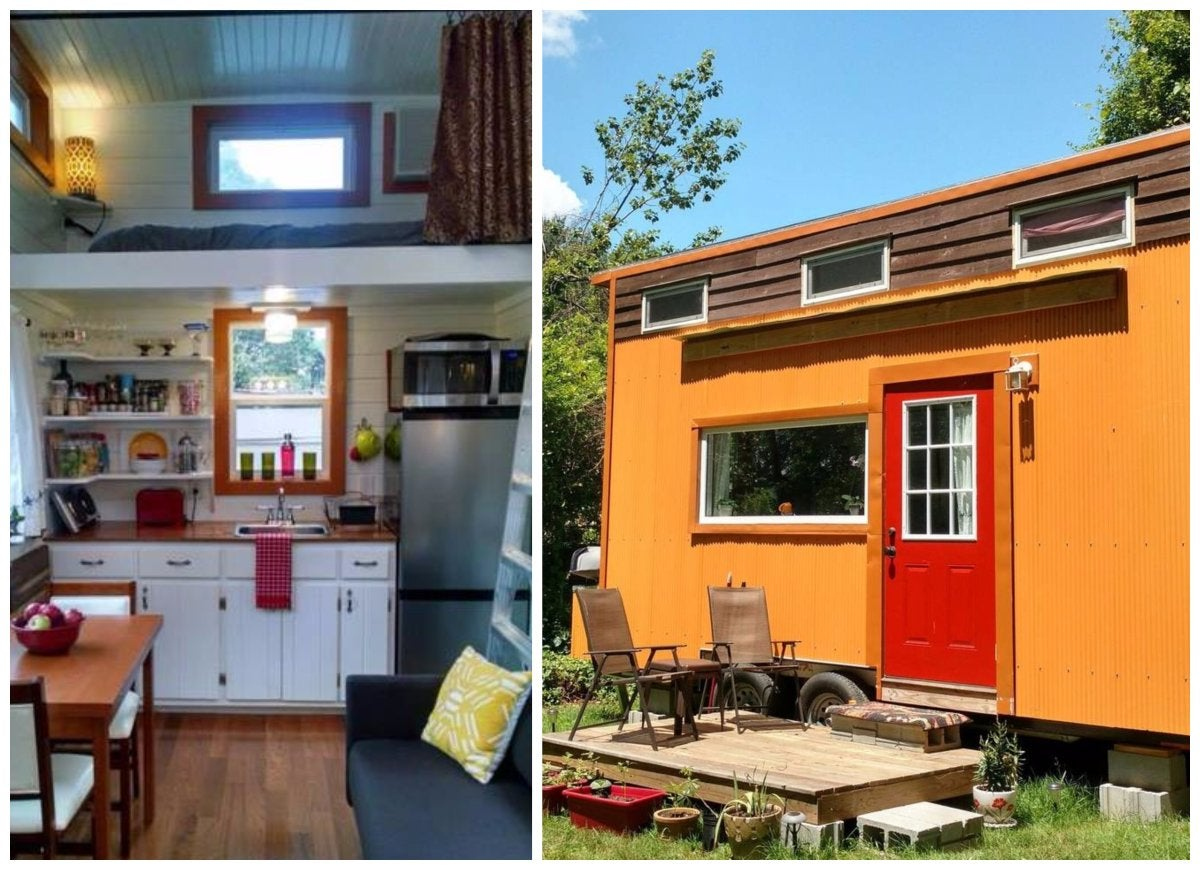 Orange tiny house
