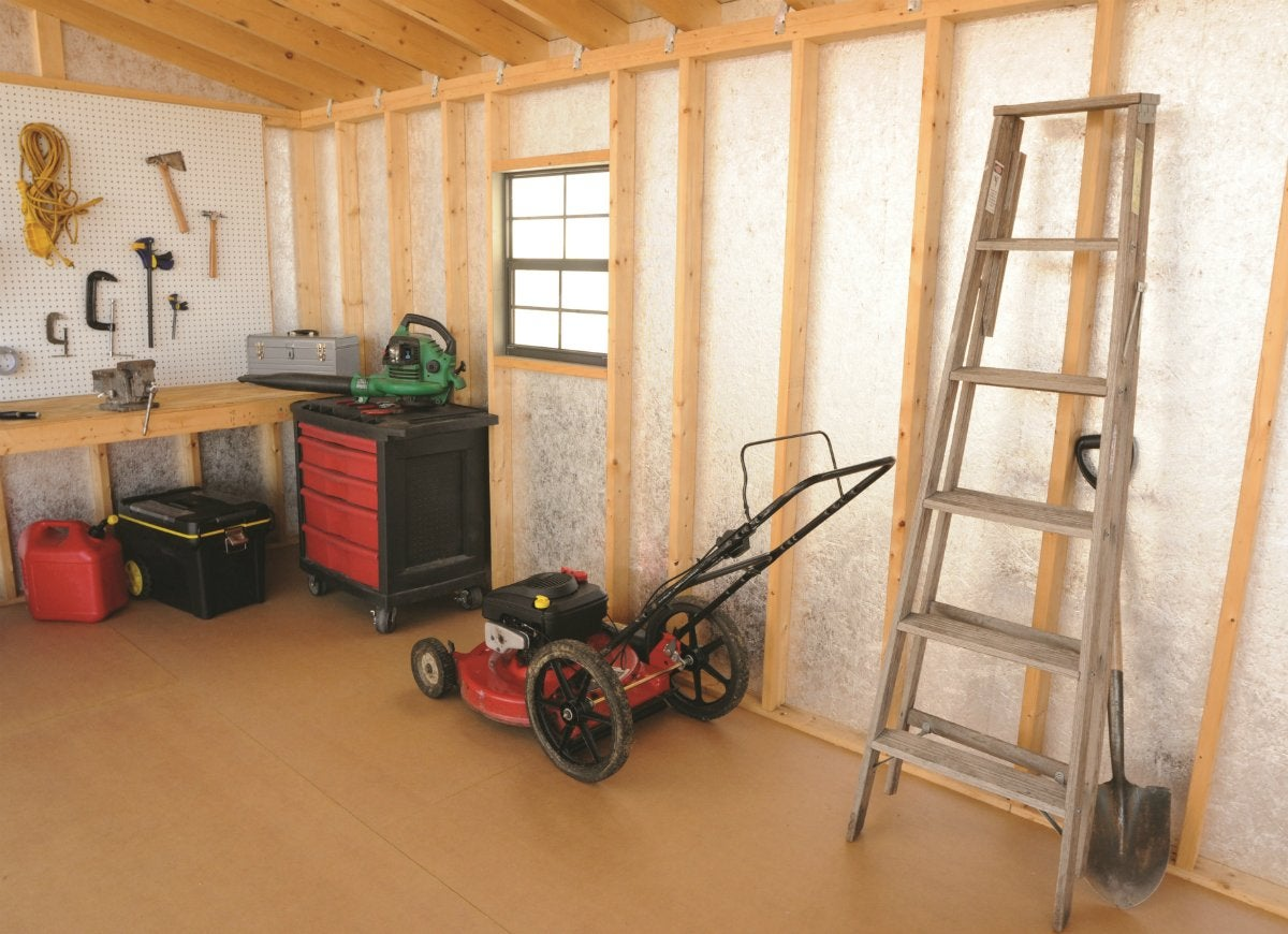 Gain storage with a shed